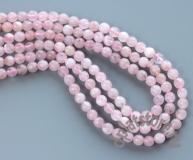 Розовый кварц шар 5-6 мм огранка нить
