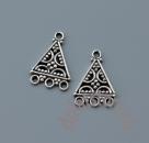 Коннектор треугольник серебро 925 2  шт