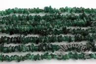 Авантюрин темно-зеленый галтовка нить