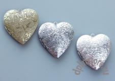 Медальон открывающийся сердце большое 1 шт