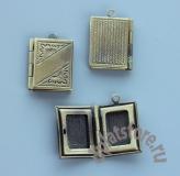 Открывающийся медальон книжка 1 шт