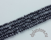 Черная шпинель огранка 2-3 мм нить