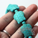 Бусина магнезит резная черепаха (под бирюзу) 1  шт