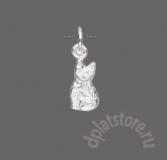 Подвеска серебряная кошка 925 1 шт