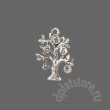Серебряное денежное дерево подвеска 1 шт