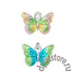 Подвеска бабочка эмаль серебро 925 1 шт