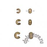 Покрытие кримпов для бус латунь (под бронзу) 10 шт