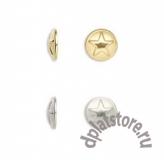 Накладки клеевые круги со звездами 9 мм 10 шт