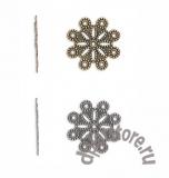 Филигранный элемент цветок винтаж 1 шт