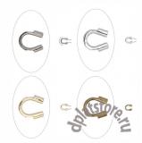 Защита для ювелирного тросика разное покрытие 10 шт
