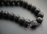 Лава (лавовый камень) 8, 10 и 12 мм нитка