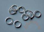 Колечки цвет серебро 5 мм 10 шт