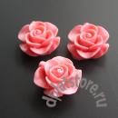 Кабошон ярко-розовая роза 1 шт