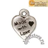 Подвеска сердце Made with love TierraCast®