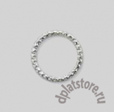 Кольцо серебро 925 закрытое с текстурой 1 шт