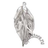 Подвеска лист большой серебро 925 1 шт